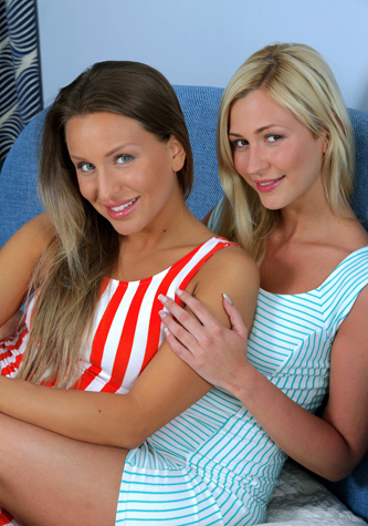 Teen Dreams - Tracy Port and Whitney Conroy get horny for each other in a girl-girl action